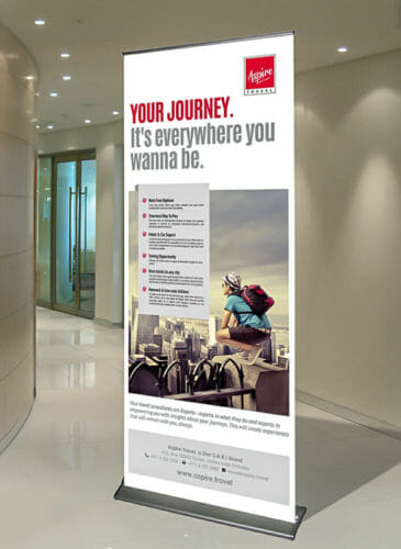 Aspire Travel – Roll-up Banner
