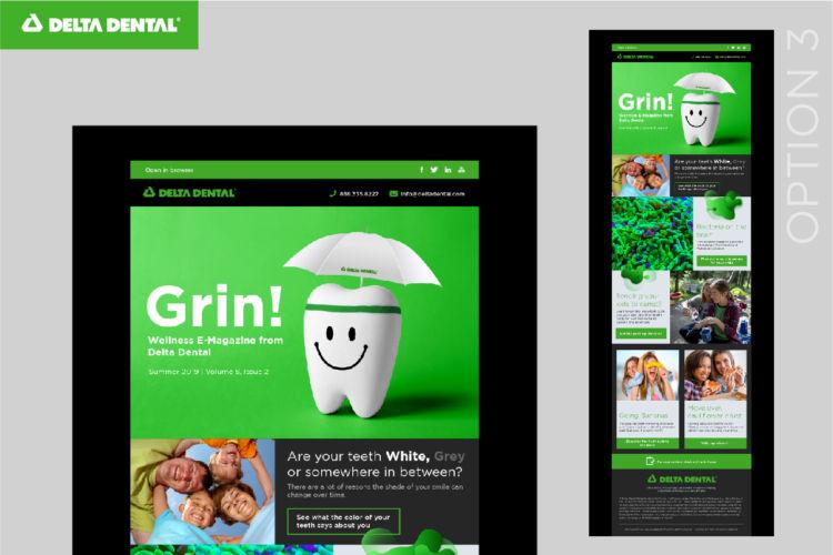 Delta Dental – Newsletter Mock-up Presentation