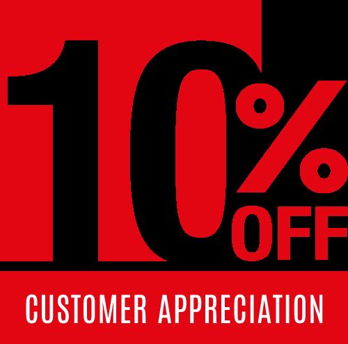 10% Off - Customer Appreciation