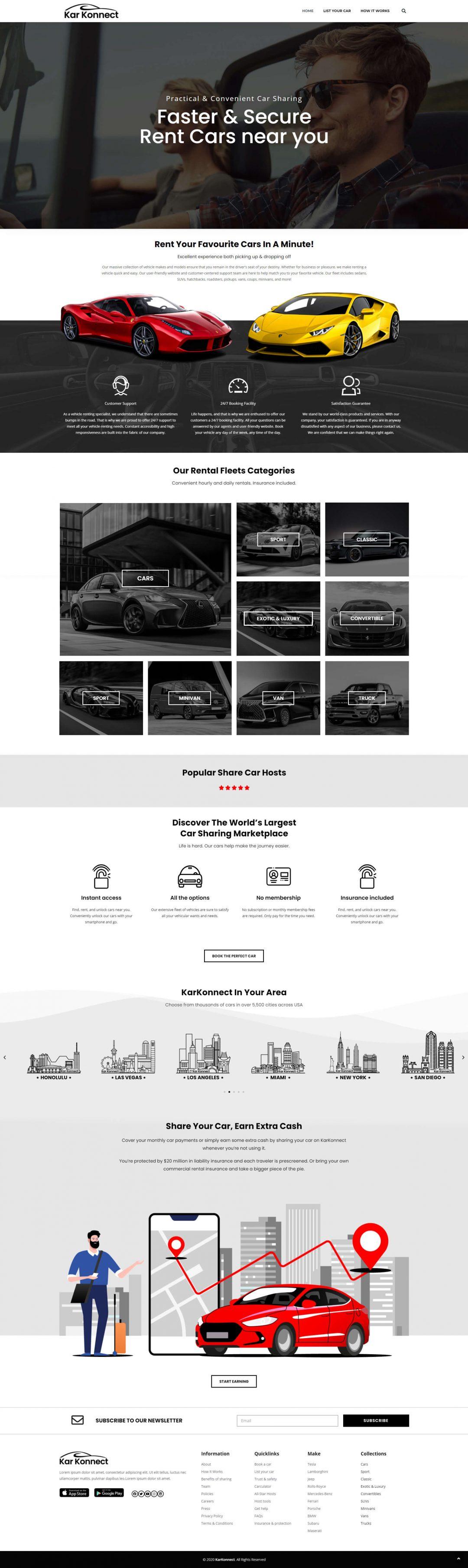 Kar Konnect Homepage